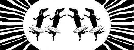 Такспарад 2014, такса, рисунок для чашки, танцующие таксы